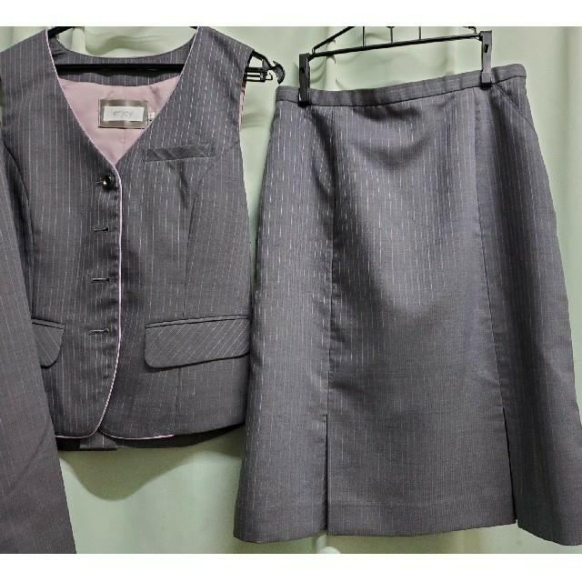 enjoi(エンジョイ)の【クリーニング済】かわいいスカートスーツ 事務服制服 上下セット enjoy レディースのフォーマル/ドレス(スーツ)の商品写真