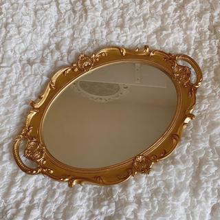 ザラホーム(ZARA HOME)の○gold mirror tray○(ミラー)