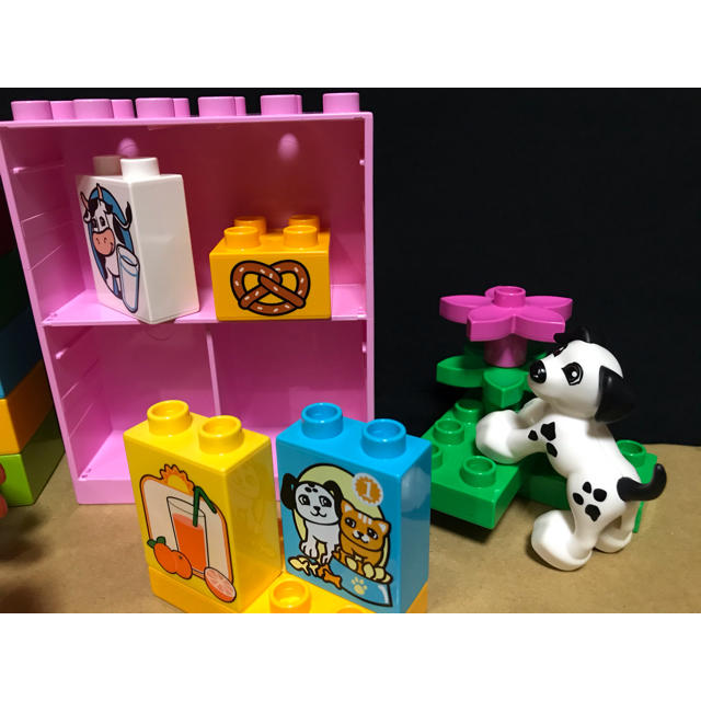 Lego(レゴ)のデュプロ お店 スーパー 食べ物 まちのお店屋さん キッズ/ベビー/マタニティのおもちゃ(知育玩具)の商品写真