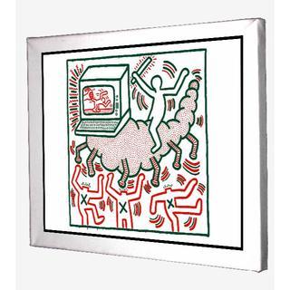 67-Keith Haring キースへリング キャンバスアート 模写(ボードキャンバス)