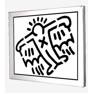 68-Keith Haring キースへリング キャンバスアート 模写(ボードキャンバス)