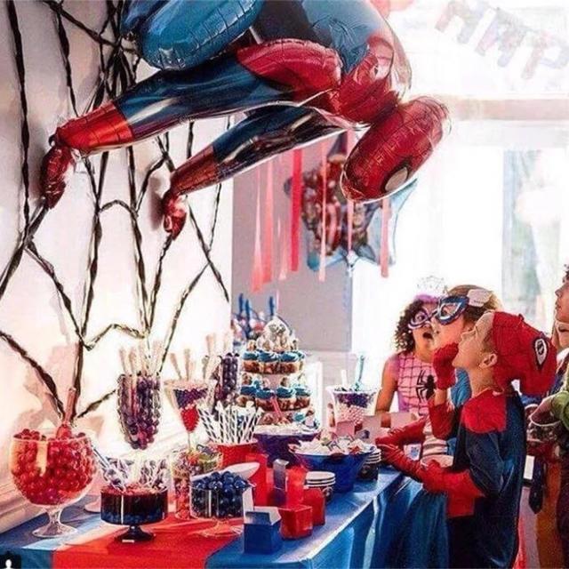 スパイダーマンの3Dバルーン♡誕生日やパーティー、インテリアにも♡送料無料 キッズ/ベビー/マタニティのメモリアル/セレモニー用品(その他)の商品写真