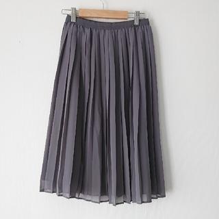 ユニクロ(UNIQLO)のユニクロ グレー チュールスカート(ロングスカート)
