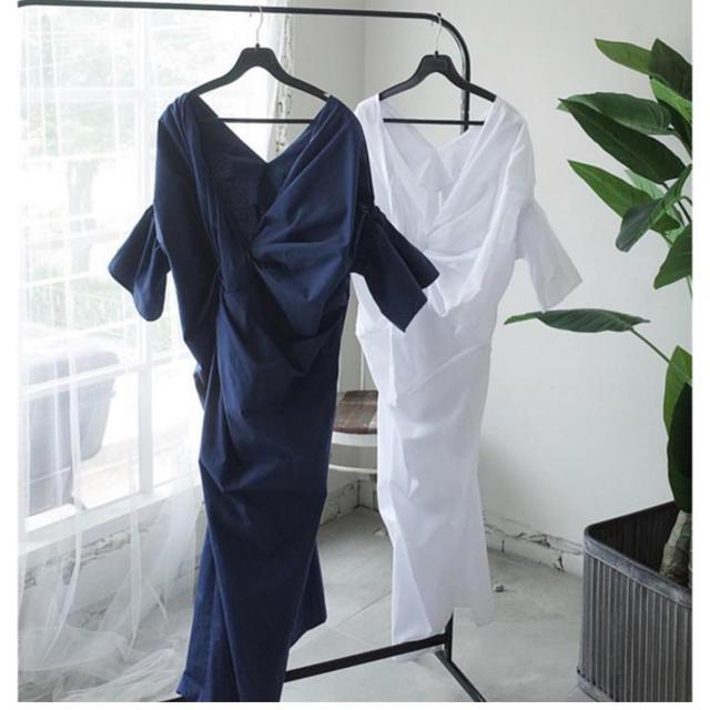 ZARA(ザラ)のBIRTHDAY BASH ショートスリーブツイストドレス ワンピース  レディースのワンピース(ロングワンピース/マキシワンピース)の商品写真