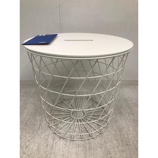 イケア(IKEA)のKVISTBRO クヴィストブロー リビングテーブル収納付き,ホワイト,44cm(その他)