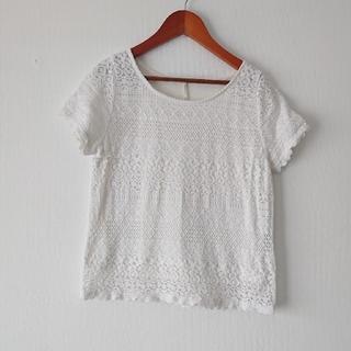 ヴィス(ViS)のギャミヌリー レースTシャツ(Tシャツ(半袖/袖なし))