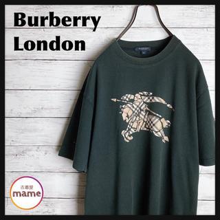 バーバリー(BURBERRY)の【激レア‼︎】バーバリー ロンドン◎90s ビッグロゴ ノバチェック Tシャツ(Tシャツ/カットソー(半袖/袖なし))
