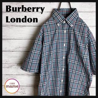 バーバリー(BURBERRY)の【激レア‼︎】バーバリー ロンドン◎90s グレーノバチェック 半袖シャツ(シャツ)