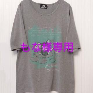 わちふぃーるど ダヤン Tシャツ 睡蓮BABY グレー L(Tシャツ(半袖/袖なし))
