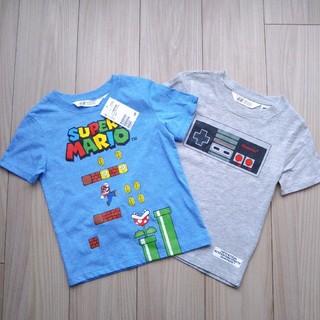 エイチアンドエム(H&M)のH&M 100/105㎝ マリオ Tシャツ 2枚セット(Tシャツ/カットソー)