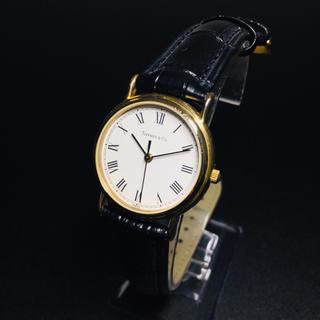 Tiffany & Co. - 【美品 正規品】ティファニー 腕時計 ローマンインデックス ゴールド クラシック