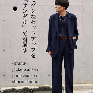 SUNSEA - 【希少】19ss sunsea SNM-BLUE jacket deepネイビー