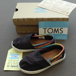 トムズ(TOMS)の【みーちゃん様専用】TOMS ベビーキッズ スリッポン 14.5cm~15cm(スリッポン)