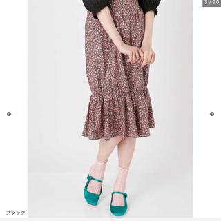 メリージェニー(merry jenny)の小花柄 マーメイドスカート(ひざ丈スカート)