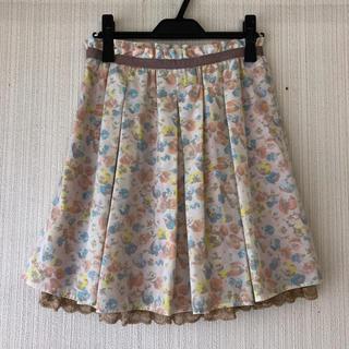 エルディープライム(LD prime)の【最終価格】エルディープライム 花柄スカート(ひざ丈スカート)