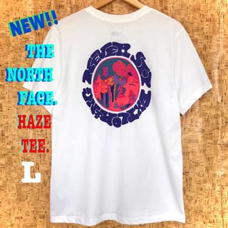 ザノースフェイス(THE NORTH FACE)の最新 ♪ ノースフェイス HAZE Tシャツ 白 サイケデリック L相当(Tシャツ(半袖/袖なし))