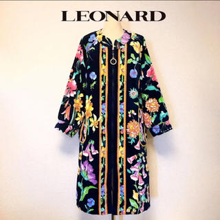 LEONARD - 新品 LEONARD レオナール 花柄 パイル コート ガウン レア 希少