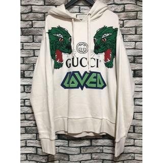 グッチ(Gucci)のGUCCI グッチ★18AW GUCCI LOVED タイガーロゴパーカー (パーカー)
