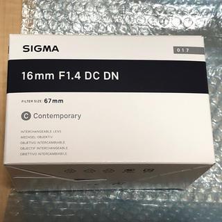 シグマ(SIGMA)の[ほぼ未使用] SIGMA シグマ 16mm F1.4 DC DN (レンズ(単焦点))