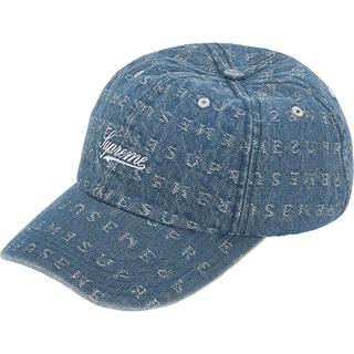 Supreme - 送料込 SUPREME Jacquard Logos Denim 6-Panel
