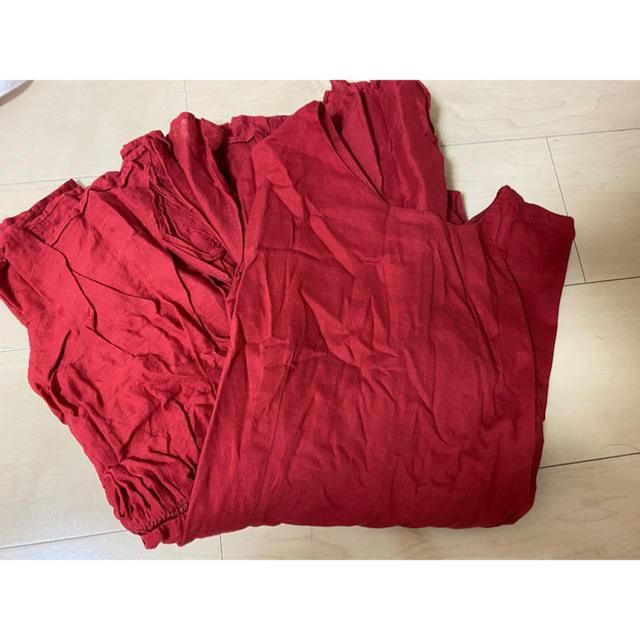 IENA(イエナ)のコットンボイルワンピース RED レディースのワンピース(ロングワンピース/マキシワンピース)の商品写真