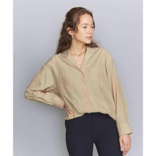 ビューティアンドユースユナイテッドアローズ(BEAUTY&YOUTH UNITED ARROWS)のキャプラコットンオープンカラーシャツ(シャツ/ブラウス(長袖/七分))