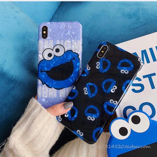 セサミストリート(SESAME STREET)の☆クッキーモンスター iPhoneケースiPhoneXR セサミストリート (iPhoneケース)