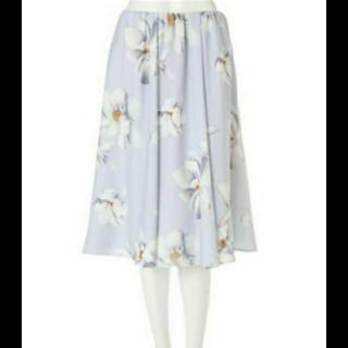 プロポーションボディドレッシング(PROPORTION BODY DRESSING)のプロポーション  フレアスカート 花柄 フラワープリント (ロングスカート)