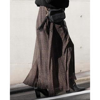 ルームサンマルロクコンテンポラリー(room306 CONTEMPORARY)のroom306 leopard chiffon maxi skirt(ロングスカート)
