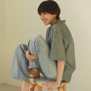 TODAYFUL - 最安値 TODAYFUL Silk Boyfriend Shirts