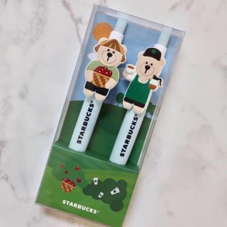 Starbucks Coffee - 【新品】スターバックス 海外限定 ベアリスタ ボールペン 2点セット