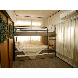 おしゃれ 3段ベッド ベッドフレーム(ロフトベッド/システムベッド)