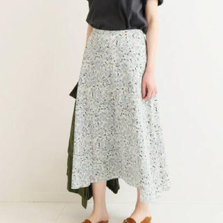 IENA - IENA フラワープリントフレアースカート 36サイズ