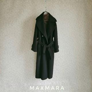 Max Mara - 超高級 マックスマーラ イタリア製 最高級憧れの一級品ブラックベルテッドコート