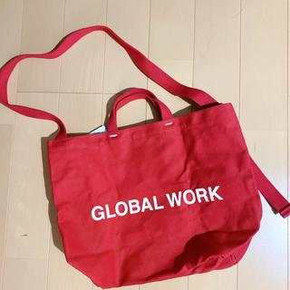 グローバルワーク(GLOBAL WORK)の新品未使用 グローバルワーク  赤トートバッグ 2way(トートバッグ)