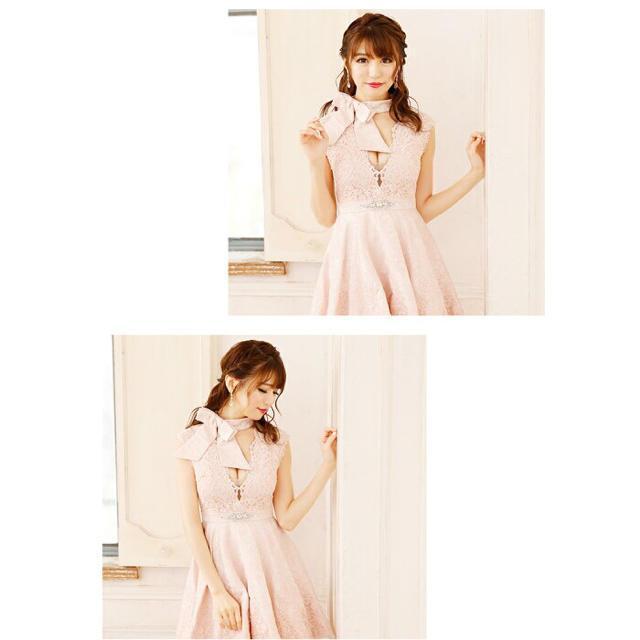 ROBE(ローブ)の【大人気完売商品】ROBEdeFLEURS リボンネックミニドレス fm1401 レディースのフォーマル/ドレス(ナイトドレス)の商品写真