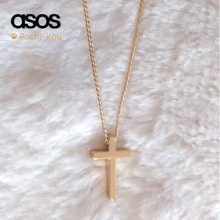 エイソス(asos)のセール中♪ 日本未入荷♪ ASOS Cross Necklace ゴールド(ネックレス)