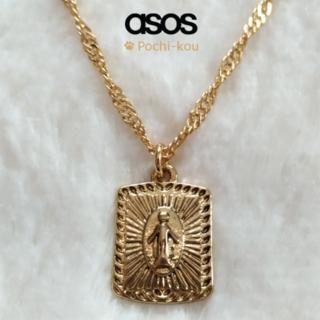 エイソス(asos)のセール中 日本未入荷 ASOS Sovereign メダリオン ネックレス 金色(ネックレス)