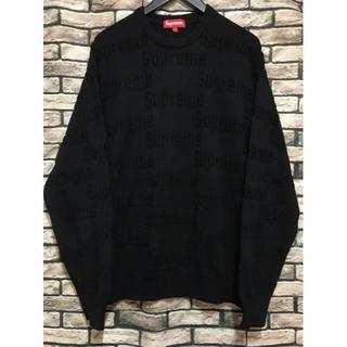 Supreme - シュプリーム★19AW Raised Logo Sweaterロゴニットセーター