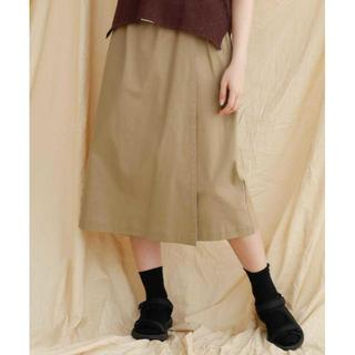 merlot - 新品 merlot(メルロー) ラップ風コットンタイトスカート