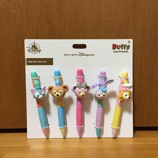 ダッフィー - 香港ディズニーランド ダッフィー&フレンズ ボールペン 5本 セット