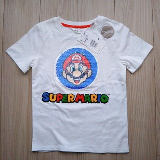 エイチアンドエム(H&M)のH&M   スーパーマリオ リバーシブルスパンコールTシャツ  120㎝(Tシャツ/カットソー)