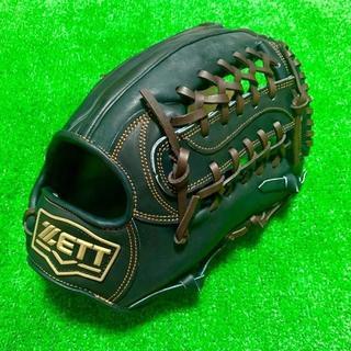 ゼット(ZETT)の新品 高校野球対応 ZETT プロモデル 硬式用 外野手用 グローブ 台湾製(グローブ)