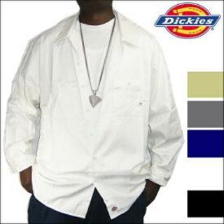 ディッキーズ(Dickies)のDickies ワークシャツ 長袖 白 ディッキーズ M (シャツ)