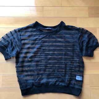 ワンウェイ(one*way)のoneway ストライプ Tシャツ トップス Tシャツ シアーシャツ(Tシャツ(半袖/袖なし))