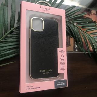 kate spade new york - 新作★ケイトスペード iPhone 11 黒 レザー調 日本未発売