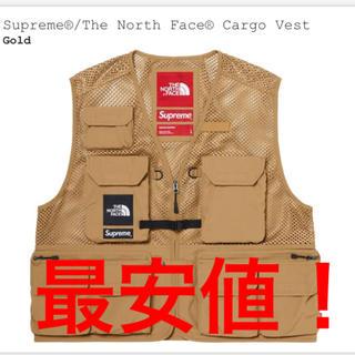 Supreme - Supreme north face ベスト ゴールド