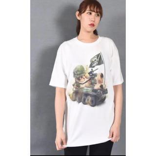 ミルクボーイ(MILKBOY)のミルクボーイ  MILKBOY CAT ARMY Tシャツ ホワイト ねこcat(Tシャツ/カットソー(半袖/袖なし))