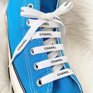 シャネル(CHANEL)のCHANEL 海外正規品ラッピングリボン シューレースなどに 約140cm×2本(その他)
