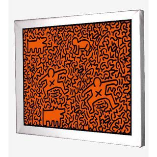 69-Keith Haring キースへリング キャンバスアート 模写(ボードキャンバス)